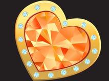 Heart with diamond Stock Photography