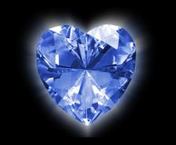 Heart diamond Stock Photography