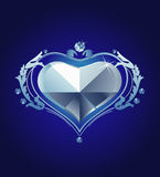 Heart diamond. Design of a vector background in vintage style Royalty Free Stock Images