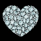 Heart diamond composition Royalty Free Stock Photography