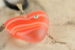 Heart with diamond Royalty Free Stock Photography