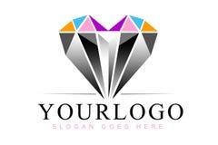 Heart Diamond Logo royalty free illustration