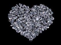 Heart of diamonds Stock Photos
