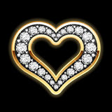 Heart in diamonds Royalty Free Stock Photos