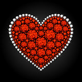 Heart_Diamonds Stock Afbeeldingen