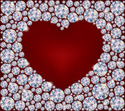 Heart of Diamonds Stock Image