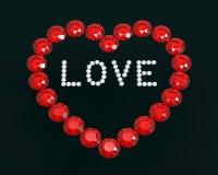 Heart of diamonds, 3D rendering Stock Photo