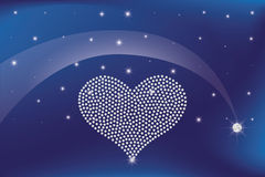 Heart of diamonds Stock Images