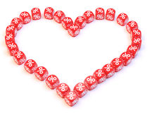 Heart dice spline Royalty Free Stock Photo
