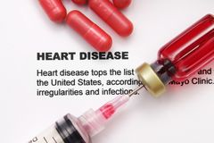 Heart disease. Close up of Heart disease concept Royalty Free Stock Images