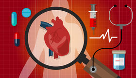 Heart disease attack human health cardiology cardiovascular icon Royalty Free Stock Image