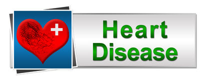 Heart Disease Button Style Stock Image