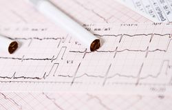 Heart disease caused by cigarettes. And smoking stock image