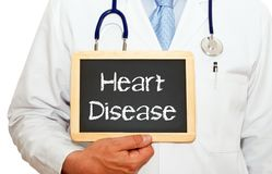 Heart Disease - Doctor with chalkboard Stock Photography
