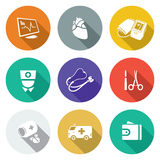 Heart disease, hospital Icons Set. Vector Illustration. Stock Photography
