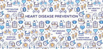 Heart Disease Prevention - Vector Illustration Royalty Free Stock Photo