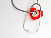 Heart disease. Heart with stethoscope, Heart healthy concept royalty free stock photography