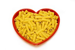 Heart Dish Pasta Royalty Free Stock Photography