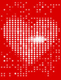 Heart_display_background. Heart on the red display. Vector illustration Royalty Free Stock Image