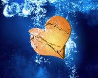 Heart dissolve under water Stock Photos