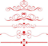 Heart dividers Royalty Free Stock Photo