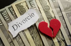 Heart and Divorcio Royalty Free Stock Photos