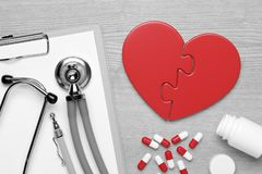 Heart Doctor`s Accessories Royalty Free Stock Photo
