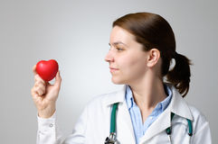 Heart in doctor's hand Royalty Free Stock Photography