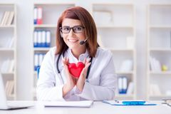 The heart doctor in telemedicine medical concept. Heart doctor in telemedicine medical concept stock photo