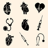 Heart doctor vector icon Royalty Free Stock Photography