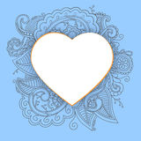 Heart with doddle pattern Stock Image