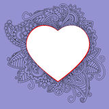 Heart with doddle pattern Stock Photos