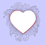 Heart with doddle pattern Royalty Free Stock Image