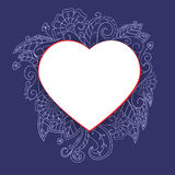 Heart with doddle pattern Royalty Free Stock Photo
