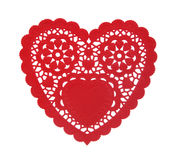 Heart Doily. A heart shaped doily isolated over a white background Stock Images
