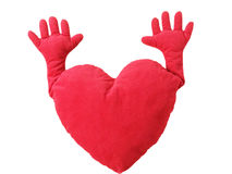 Heart doll with hands Royalty Free Stock Image
