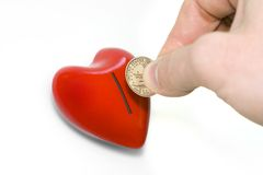 Heart and dollar. Some people paying big money for love Stock Photography