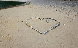 Heart done with stones Royalty Free Stock Photo