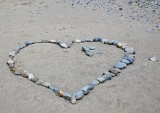 Heart done with stones Royalty Free Stock Photos