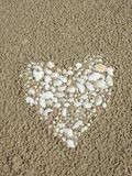 Heart done using shells, Lithuania Royalty Free Stock Image