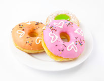 Heart donuts Royalty Free Stock Image