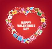 Heart/Doodle elementy Ilustracyjni karcianej dzień projekta dreamstime zieleni kierowa ilustracja s stylizował valentine wektor J ilustracja wektor