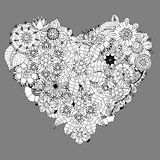 Heart doodle Stock Photography