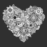Heart doodle Stock Images