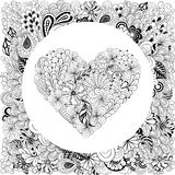 Heart doodle Stock Image