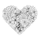 Heart doodle Royalty Free Stock Image