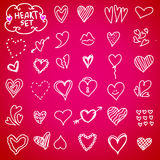 Heart doodle set Royalty Free Stock Photography