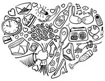 Heart doodles Royalty Free Stock Image