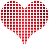 Heart dots Stock Image
