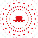 Heart dots explode vector. Background Royalty Free Illustration